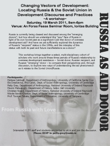 Russia As Donor Workshop flyer