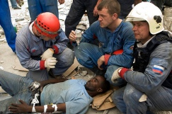 Haitian Man Rescued from Rubble After One Week